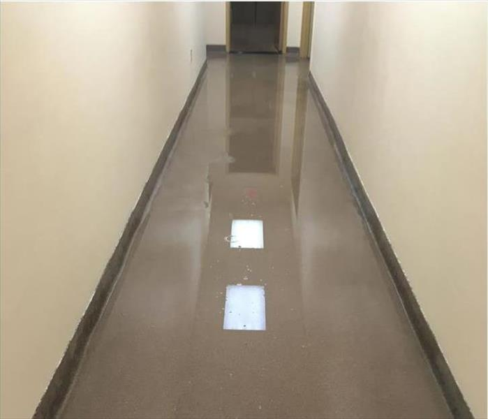 Water Leak in a St. Johns' Office Building Before