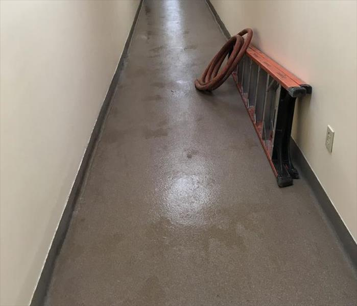 Water Leak in a St. Johns' Office Building After