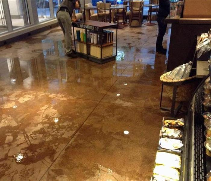 Flooding in Portland Coffee Shop Before
