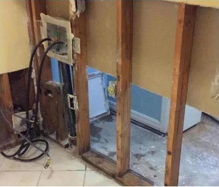 Mold Damage – Portland Laundry Room After