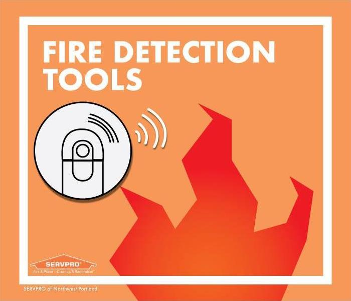 smoke detector graphic over a flame graphic